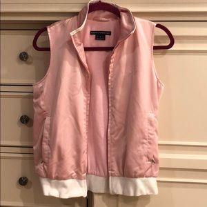 Ralph Lauren Golf Pink/White Sateen Vest